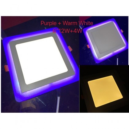 """(CLEAR STOCK) 1 YEAR WARRANTY *HIGH QUALITY* 6""""12W+4W PanelLight Downlight Ceiling Light Lamp Double Color"""