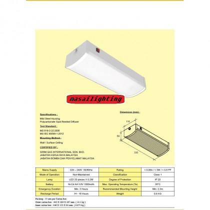LED EMERGENCY LIGHT SURFACE (VITALITE)