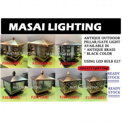 8''/10''/12'' 200MM/250MM/300MM Outdoor Gate Light Weather Proof Outdoor Pillar Light Lampu Pagar Outdoor Lighting