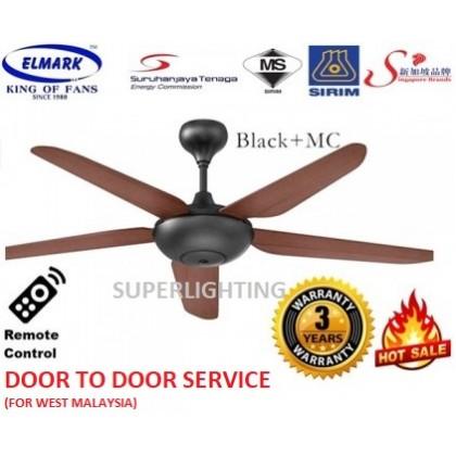 "Elmark Super123 56"" With Remote Control, Ceiling Fan ( BlackMocha) [Single, Twin Pack]"