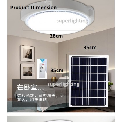 (READY STOCK) Solar 100W 150W 200W LED Solar ceiling Light Mounted Remote Control Dimmable Pelita Indoor Home