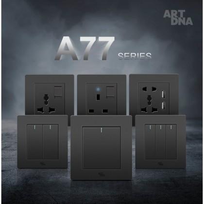 ART DNA A77 MATT BLACK SERIES SWITCHES & SOCKETS
